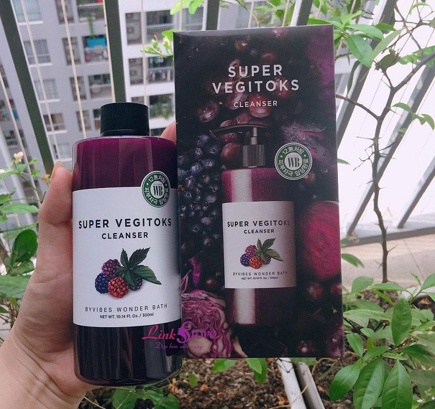 Sữa rửa mặt thải độc rau củ Wonder Bath Super Vegitoks Cleanser