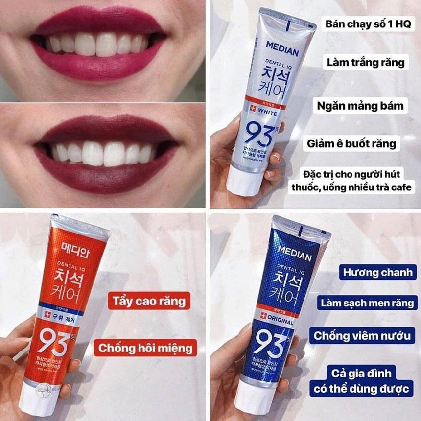 Kem đánh răng Hàn Quốc Median Dental IQ 93% - Kem đánh răng được các nha sỹ khuyên dùng!