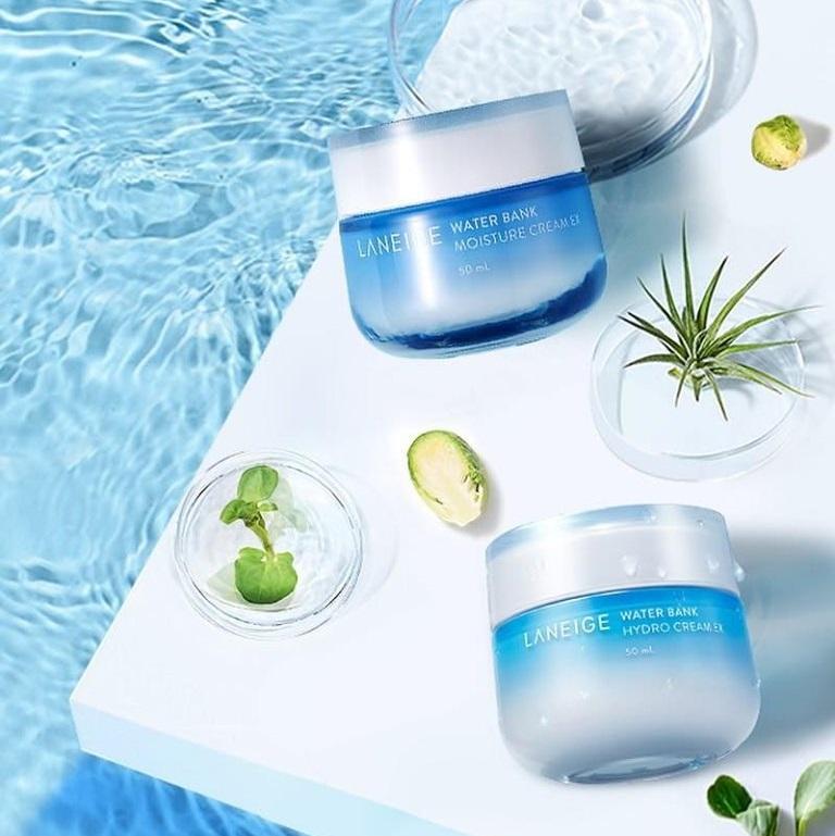 Kem dưỡng Laneige Water Bank Moisture Cream EX - Kem dưỡng ẩm tối đa dành cho da khô.