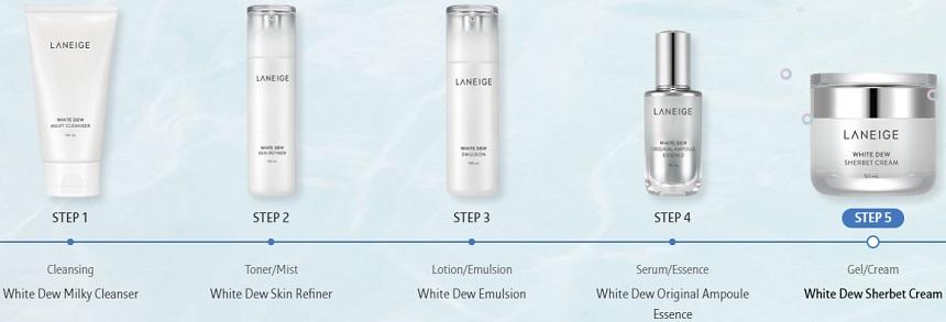 Kem dưỡng trắng Laneige White Dew Sherbet Cream