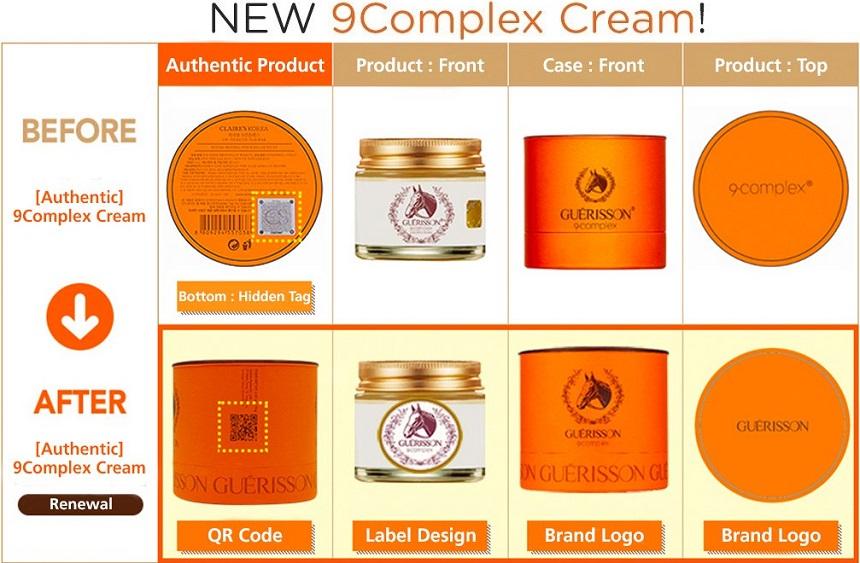 Kem dưỡng trắng da chiết xuất mỡ ngựa Guerisson 9 Complex Cream