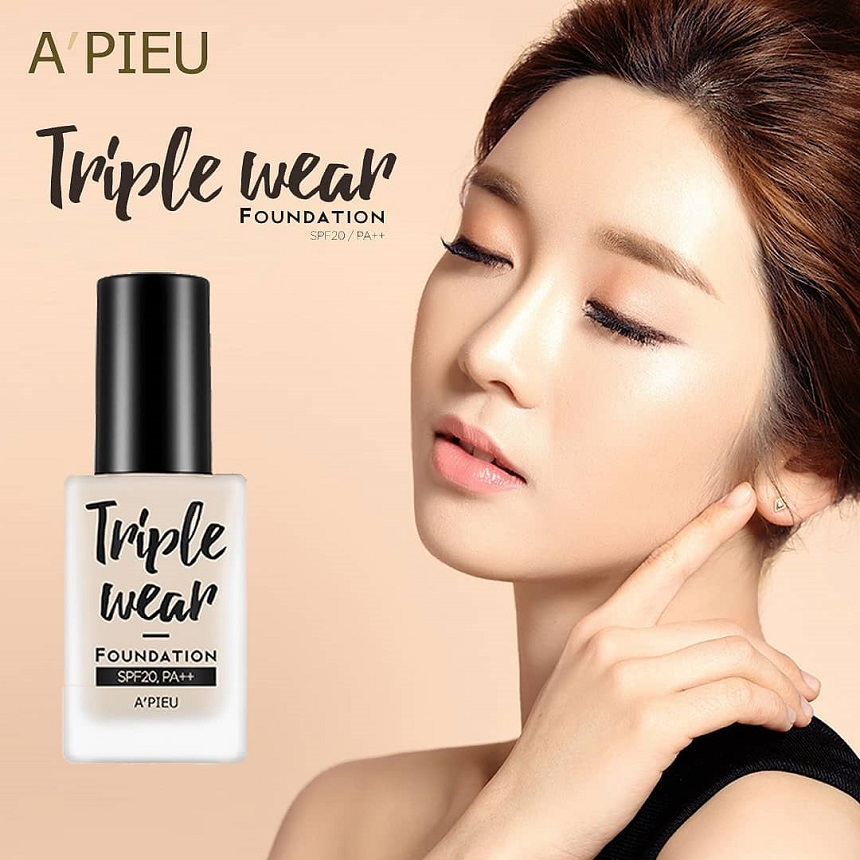 Kem nền Apieu Triple Wear Foundation SPF20 PA++