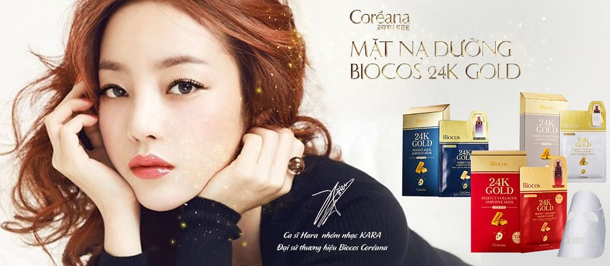 Mặt nạ tinh chất vàng Coreana 24K Gold Perfect Ampoule & Mask
