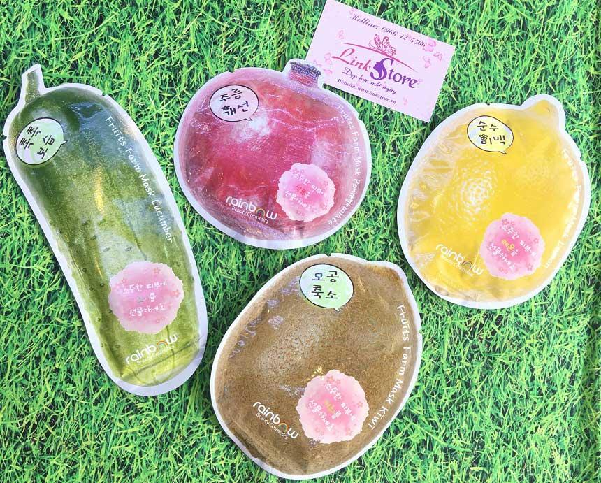 Mặt nạ trái cây Rainbow Fruits Farm Mask Pack