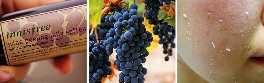 Tẩy tế bào chết Innisfree Wine Peeling Jelly Softener