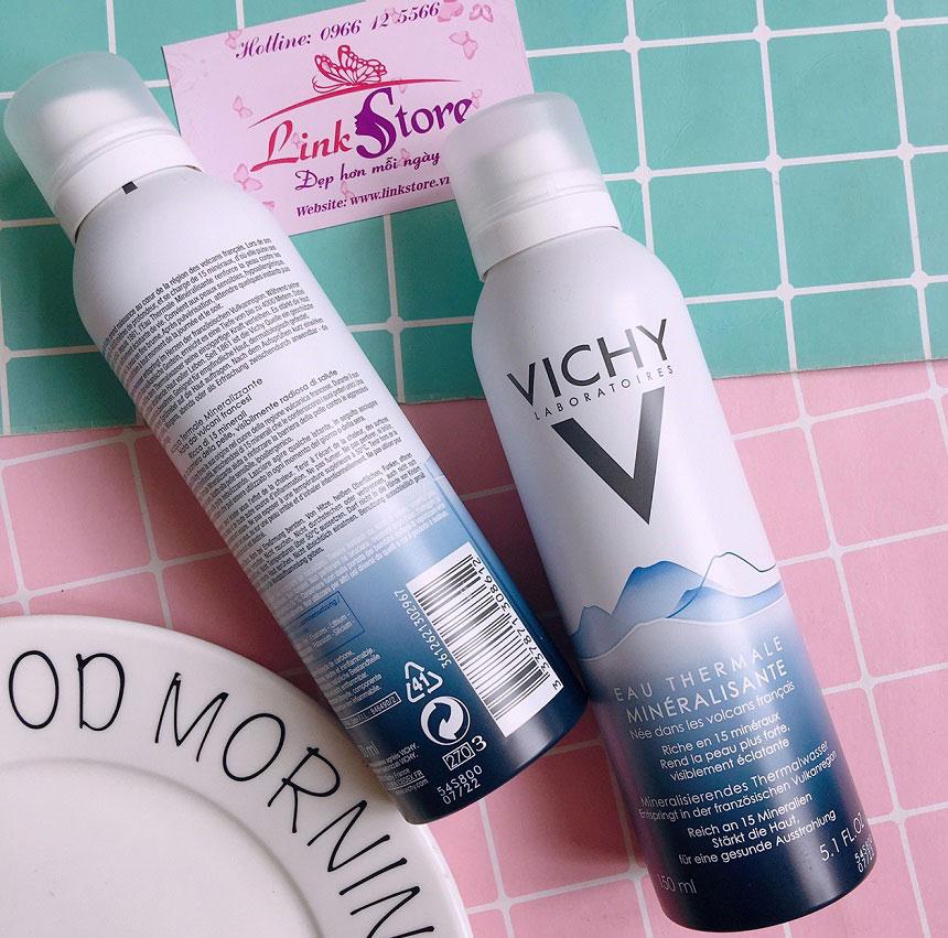 Xịt khoáng Vichy Eau Thermale - Bổ sung nước và khoáng chất, giúp da luôn mềm mại, mịn màng...