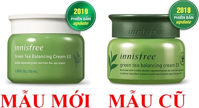 Kem dưỡng da trà xanh Innisfree Green Tea Balancing Cream EX