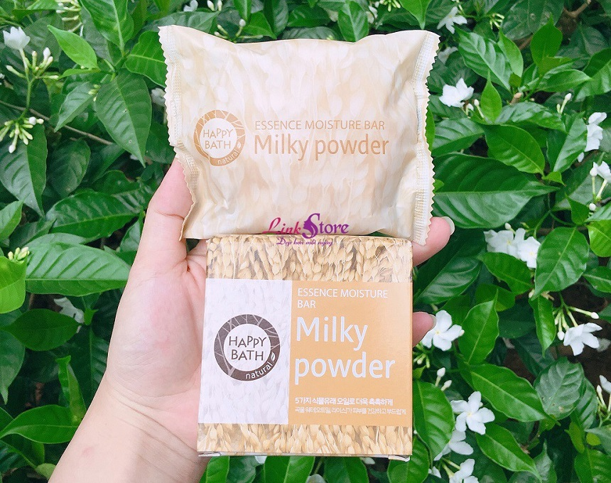 Xà phòng tắm Happy Bath Milky Powder Essence Moisture Bar