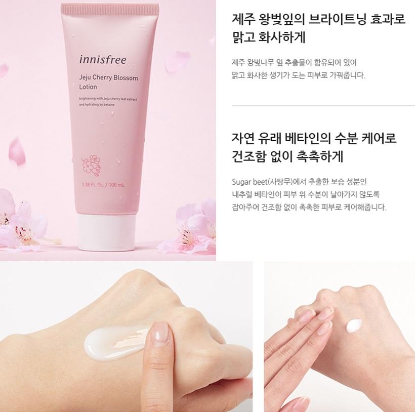 Sữa dưỡng Innisfree Jeju Cherry Blossom Lotion - Sữa dưỡng ẩm chiết xuất hoa anh đào!
