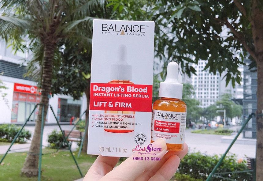 Tinh chất máu rồng Balance Dragon's Blood Instant Lifting Serum - Chống lão hóa, làm mờ nếp nhăn hiệu quả!