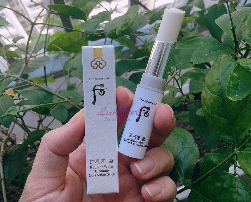 Whoo Radiant White Ultimate Correction Stick - Thỏi dưỡng trắng, trị thâm nám và tàn nhang!