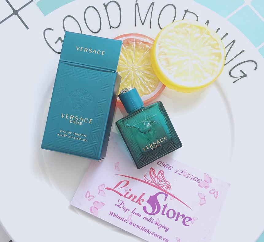 Nước hoa nam Versace Eros Eau De Toilette - Khơi gợi và thể hiện sự mạnh mẽ và đam mê của phái mạnh.