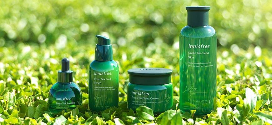 Các sản phẩm trà xanh Innisfree: Bộ dưỡng da Green Tea Seed