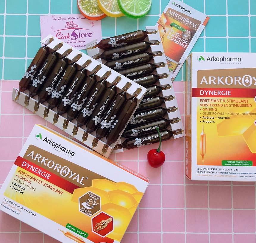 Sữa ong chúa Arko Royal Dynergie Arkopharma - Sữa ong chúa nhân sâm nguyên chất, giàu dinh dưỡng...