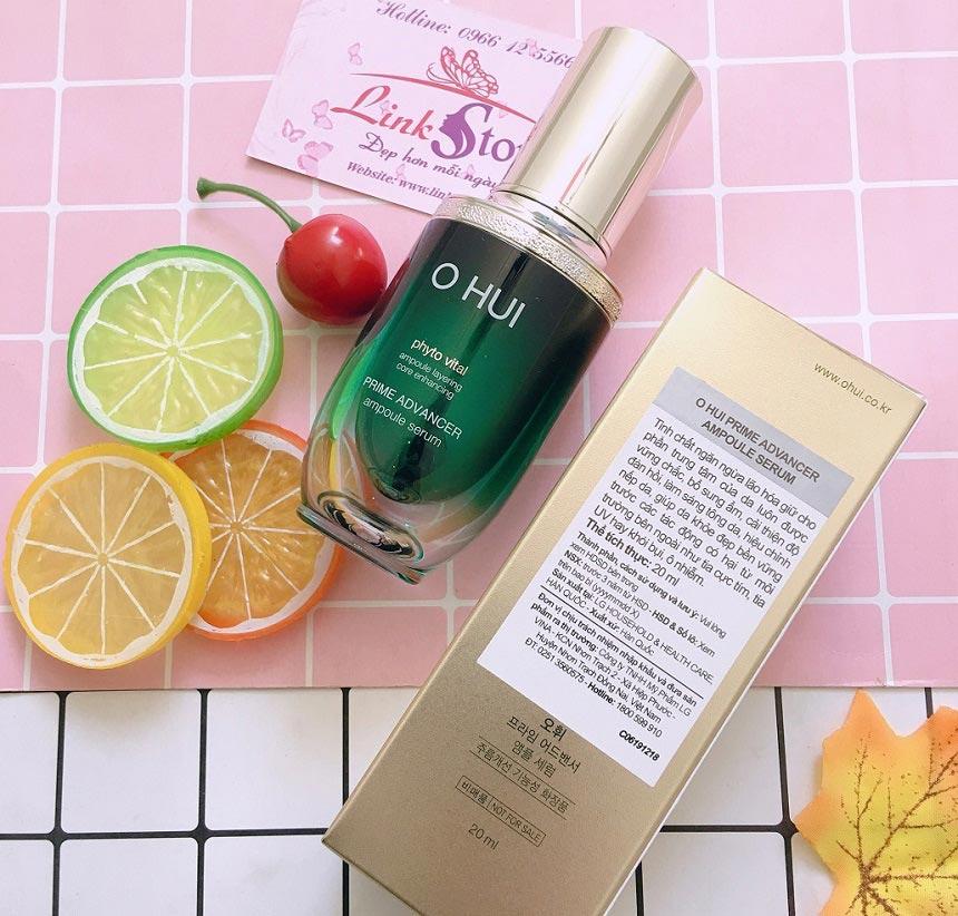 Tinh chất Ohui Prime Advancer Ampoule Serum - Tinh chất đậm đặc giúp dưỡng da, chống lão hóa hiệu quả.