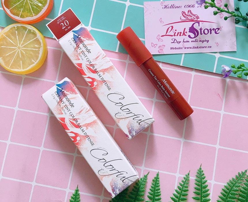 Son Mamonde Creamy Tint Color Balm Intense - Son tint bút chì chất lì, mềm mịn...