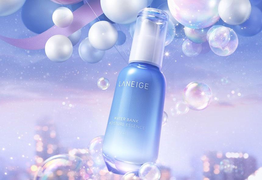 Tinh chất Laneige Water Bank Moisture Essence - Dưỡng ẩm, cho da mềm mịn, khỏe mạnh và căng tràn sức sống.