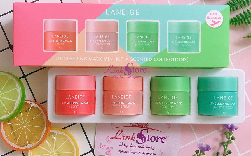 Set mặt nạ ngủ môi Laneige Lip Sleeping Mask Mini Kit