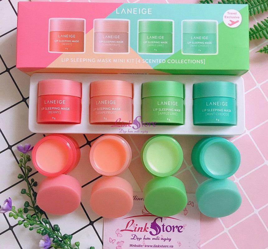 Set mặt nạ ngủ môi Laneige Lip Sleeping Mask Mini Kit