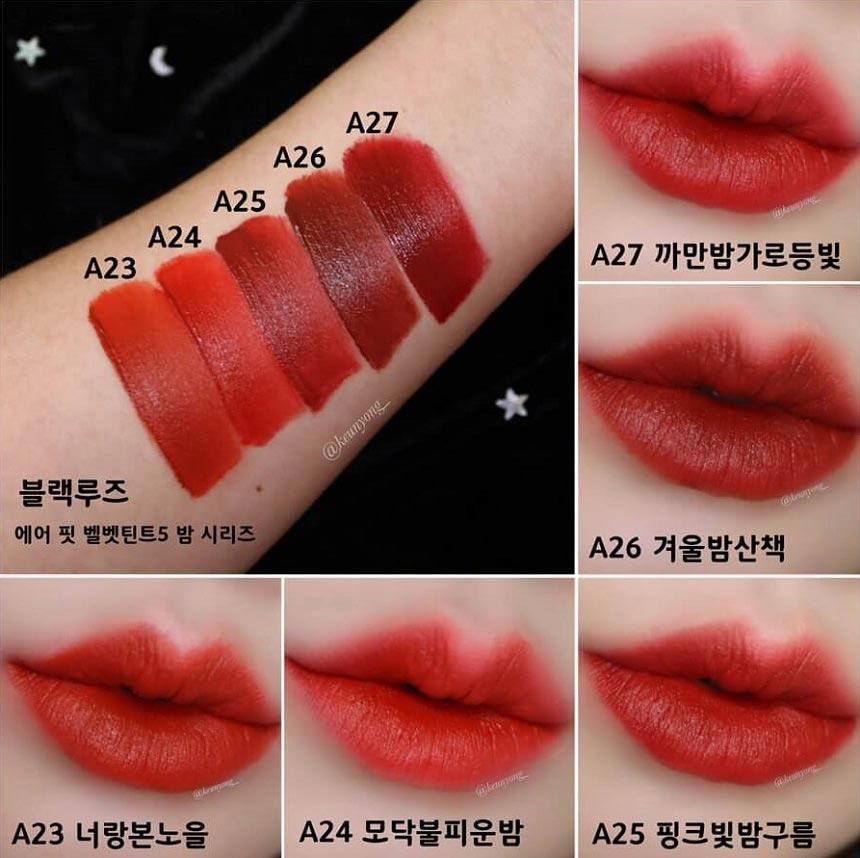 Son Black Rouge Air Fit Velvet Tint Version 5 BAM - Phiên bản mới nhất của dòng son Air Fit Velvet Tint đình đám của Black Rouge.