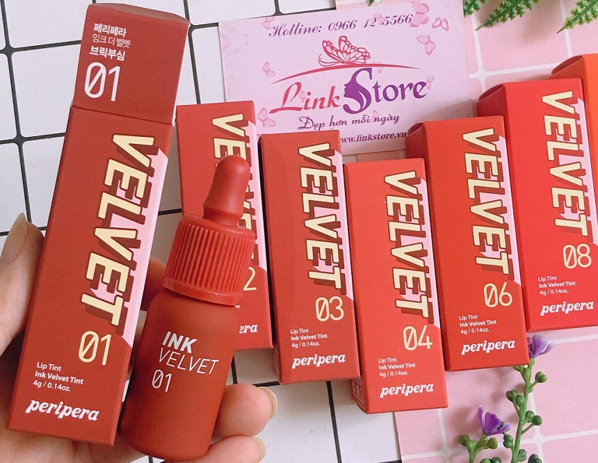 Son kem lì Peripera Lip Tint Ink Velvet Tint - Son Tint siêu bền màu, bảng màu hấp dẫn...