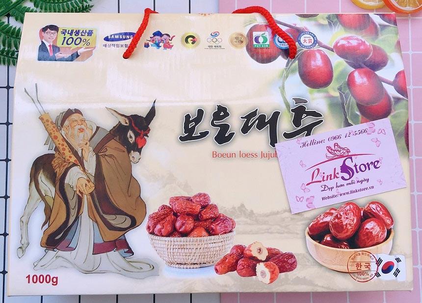 Táo đỏ khô Hàn Quốc Kfarm Boeun Loess Jujube - Hoàn toàn tự nhiên, giàu dinh dưỡng, tốt cho sức khỏe