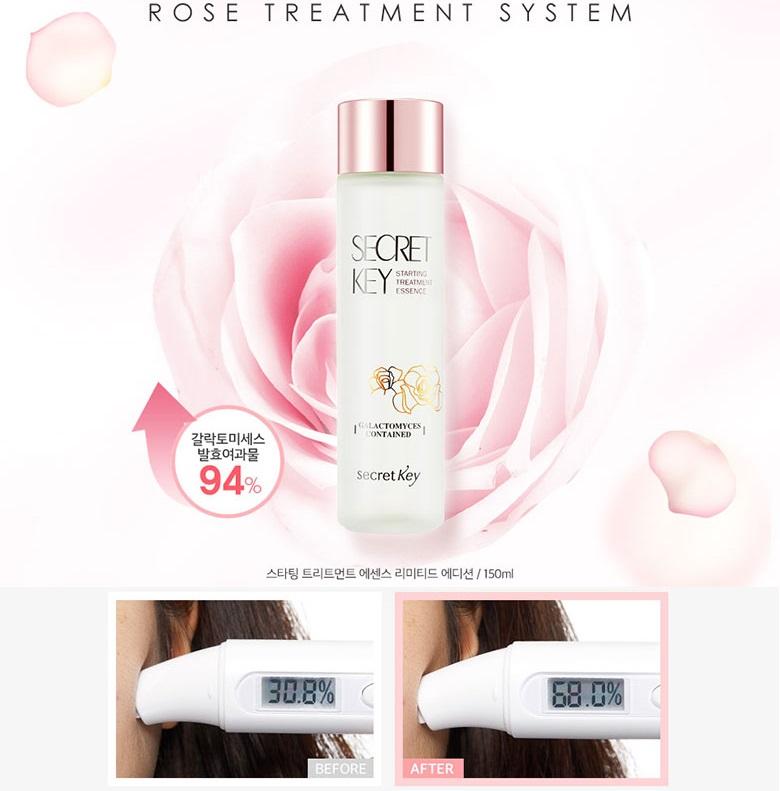 Tinh chất nước thần Secret Key Starting Treatment Essence Rose Edition - Dưỡng ẩm, chống lão hóa, dưỡng trắng da...