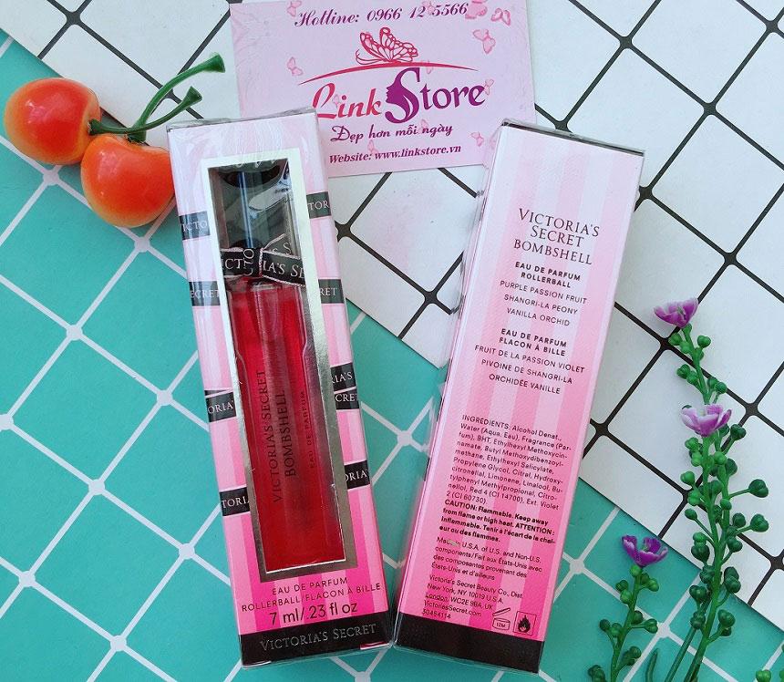 Nước hoa Victoria's Secret Eau De Parfum 7ml - Nước hoa dạng lăn tiện lợi, nhiều mùi hương hấp dẫn...