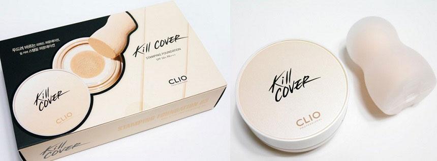 Kem nền Clio Kill Cover Stamping Foundation - Mịn màng, che phủ tốt, da căng bóng tự nhiên...