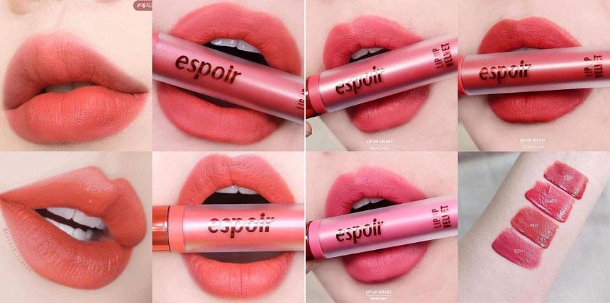 Son Espoir Lip Up Velvet - Son kem lì mịn mượt, không khô môi...