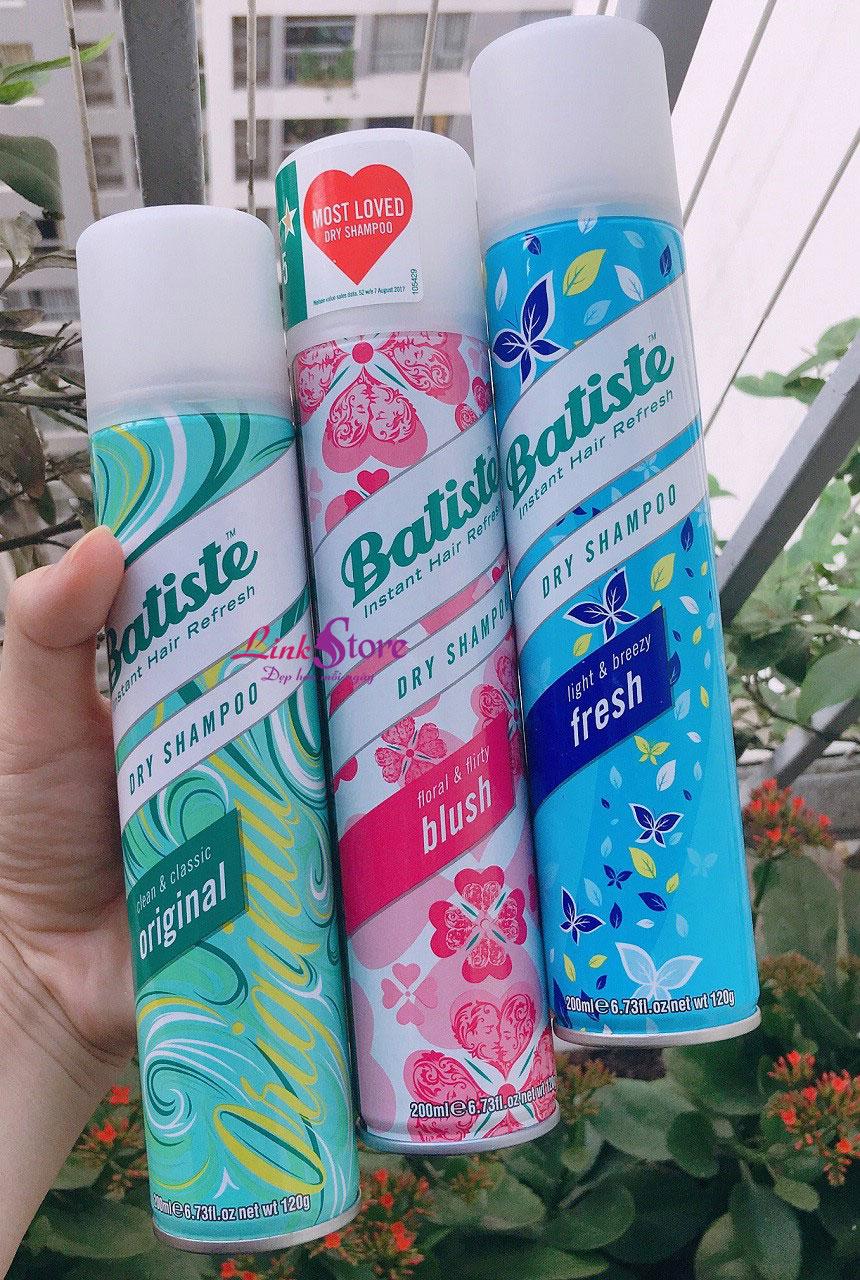 Dầu gội khô Batiste Instant Hair Refresh Dry Shampoo - Tiện lợi, cứu tinh cấp tốc cho mái tóc chưa kịp gội...