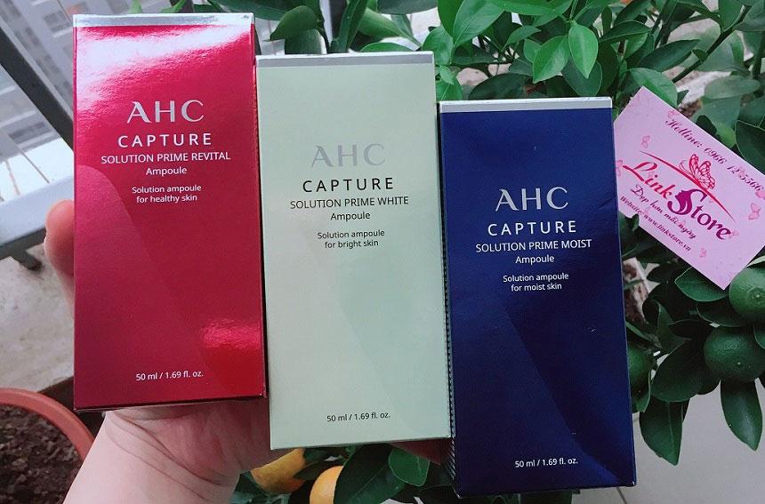 Tinh chất dưỡng ẩm AHC Caputre Solution Prime Moist Ampoule - Cấp ẩm, dưỡng sáng da căng mịn...