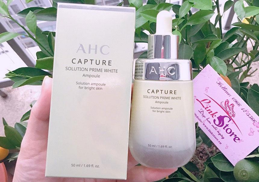Tinh chất dưỡng trắng AHC Caputre Prime White Ampoule - Dưỡng da trắng sáng, căng bóng...