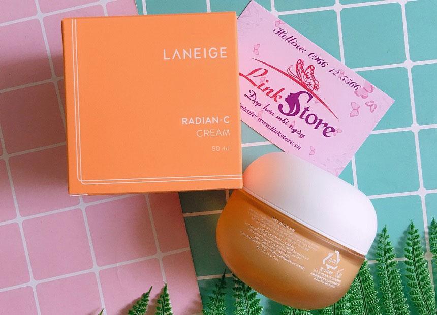 Kem dưỡng Laneige Radian-C Cream - Giúp làm sáng da, đều màu da, dưỡng ẩm sâu...