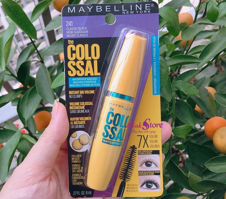 Mascara Maybelline The Colossal Waterproof - Dày mi gấp 7 lần, không trôi, không lo gãy rụng...