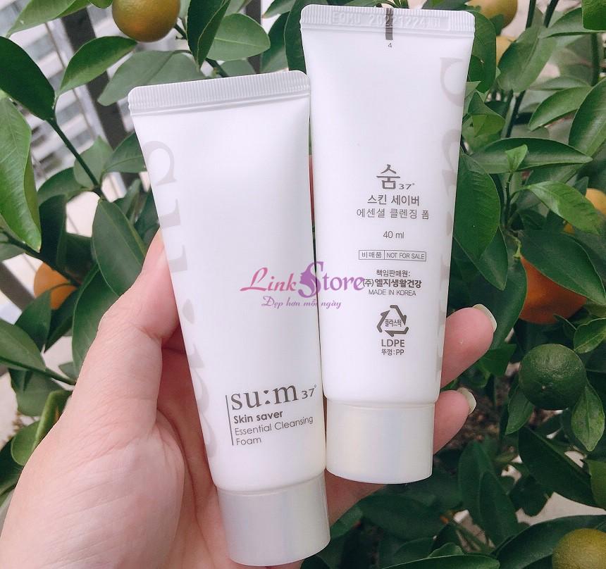 Sữa rửa mặt Su:m37 Skin Saver Essential Cleansing Foam - Làm dạch sâu, dưỡng trắng da...