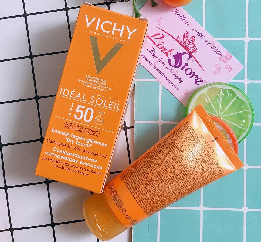 Kem chống nắng Vichy Ideal Soleil SPF50 UVA + UVB - Không nhờn dính, bảo vệ da suốt ngày dài...