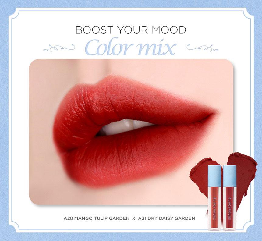 Son Black Rouge Air Fit Velvet Tint Version 6 Blueming Garden - Sắc xanh mát, 5 tone thời thượng cho mùa hè rực rỡ...