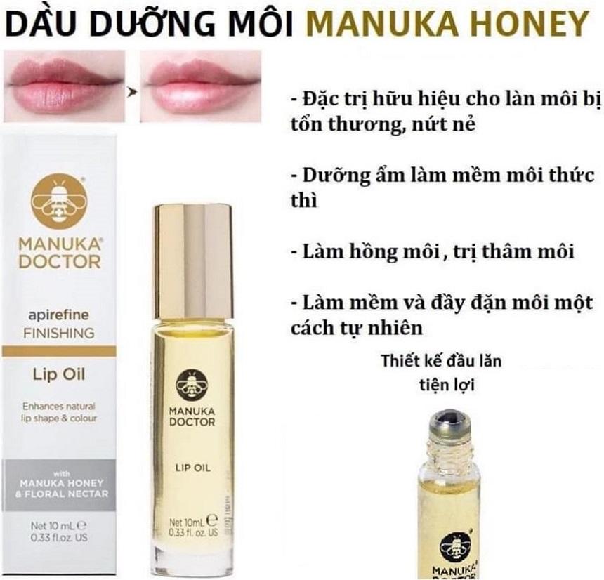 Dầu dưỡng môi Manuka Doctor Apirefine Finishing Lip Oil