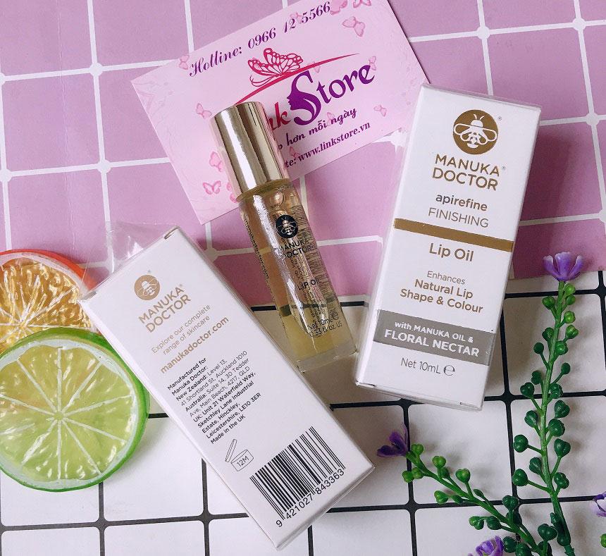 Dầu dưỡng môi Manuka Doctor Apirefine Finishing Lip Oil - Dưỡng môi ẩm mịn suốt cả ngày