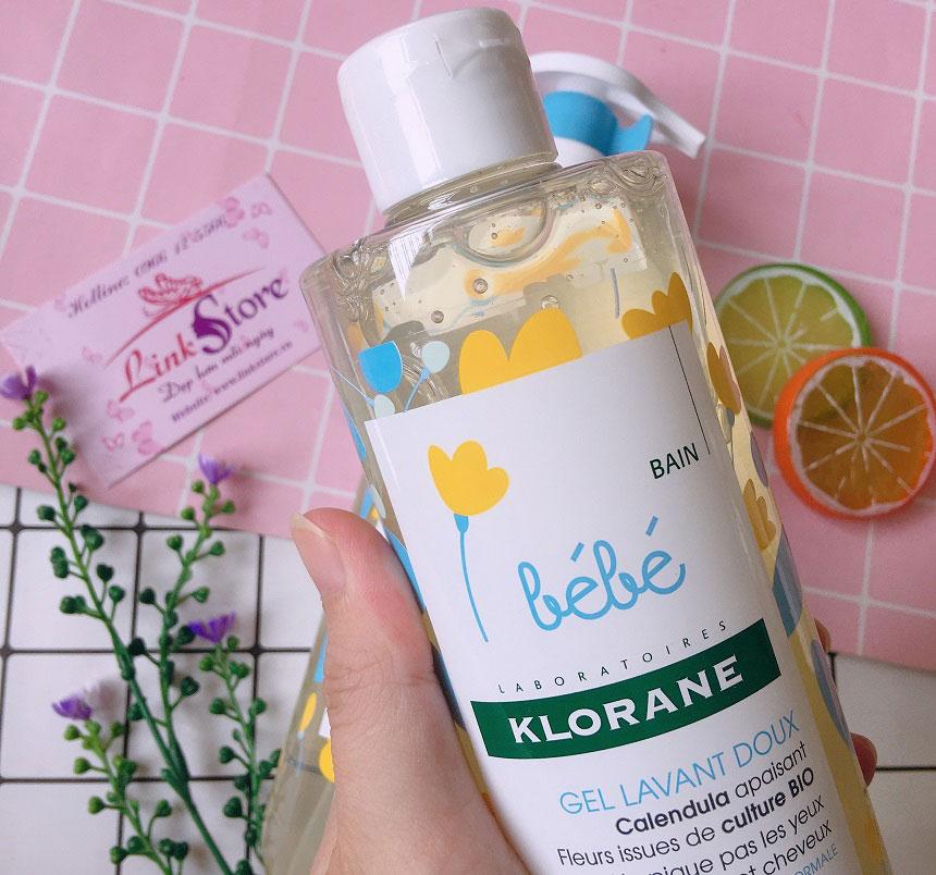 Sữa tắm gội trẻ em Bébé Klorane Gel Lavant Doux - An toàn với làn da bé, mùi hương dễ chịu...