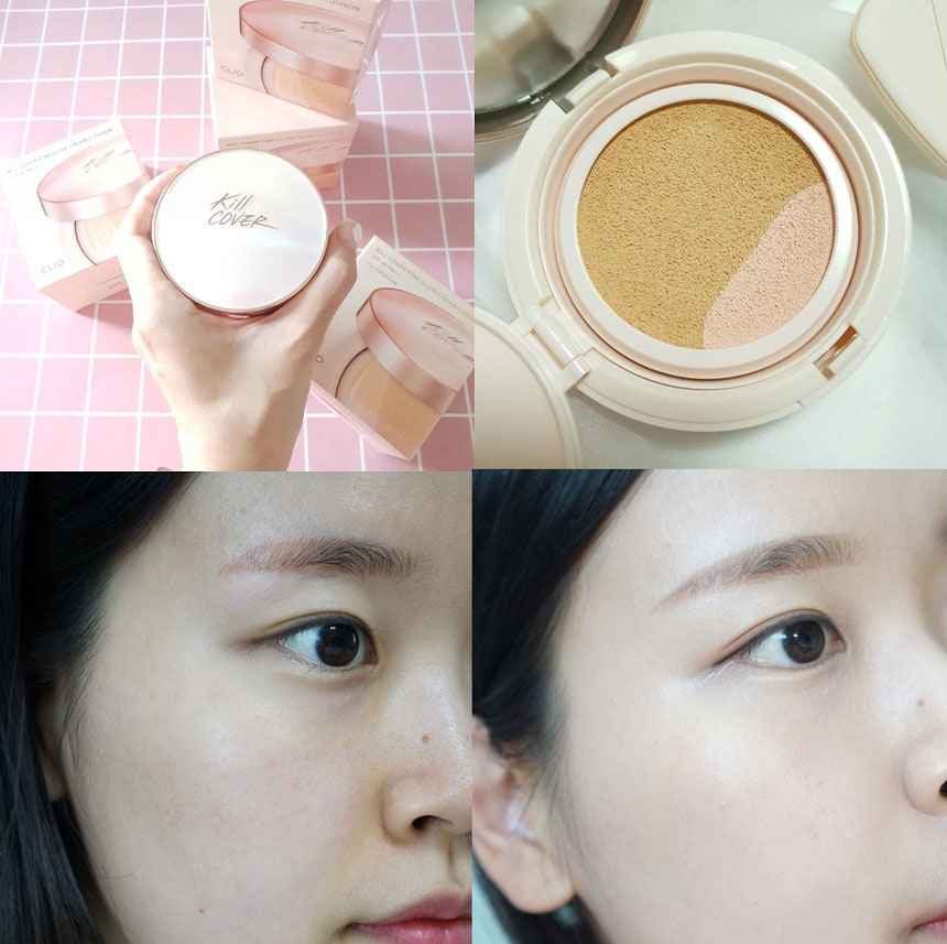 Phấn nước Clio Kill Cover Pink Glow Cream Cushion SPF40 PA++