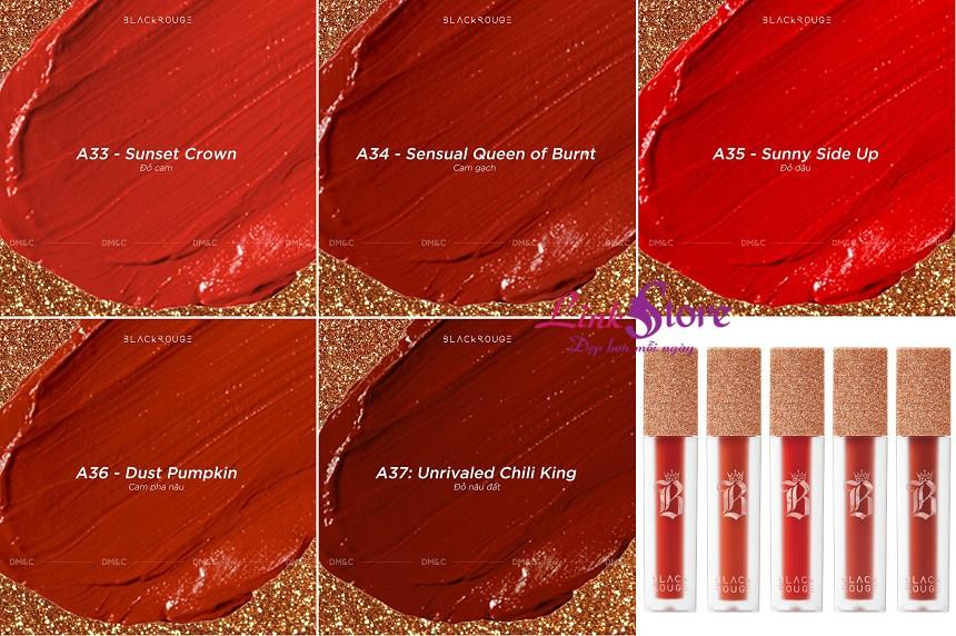Son Black Rouge Air Fit Velvet Tint Ver7 Velvet Crown - Vua của sự mềm mịn...