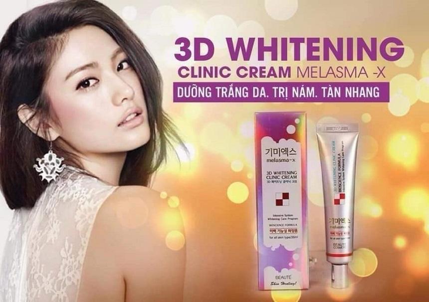 Kem dưỡng Melasma-X 3D Whitening Clinic Cream