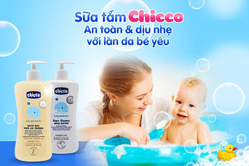 Tắm gội trẻ em Chicco Baby Moments - Tắm gội 2 trong 1, dịu nhẹ, an toàn cho bé...